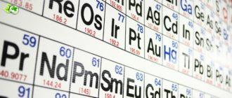 Таблица тяжелых металлов
